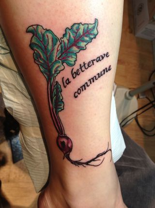 Vegetable tattoo