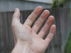 caregiver lending a hand